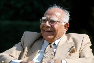 The former BJP member was elected to the Rajya Sabha last week by the Rashtriya Janata Dal. Jethmalani is no stranger to politics and controversy. Photo: HT