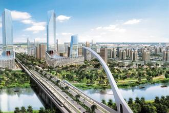 An artist's impression of Amaravati, the to-be capital of Andhra Pradesh.