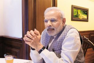 Despite the reshuffle, PM Narendra Modi kept the nucleus of decision-making within the government—the finance, defence, home, road transport and external affairs ministries—untouched. Photo: Sanjoy Narayan/HT