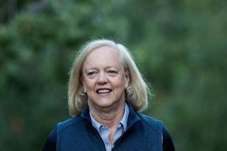 CEO Meg Whitman has been pushing the company to reduce its size and become nimbler to help it better take on rivals such as Dell Inc. and navigate the changing demands of corporate customers. Photo: AFP