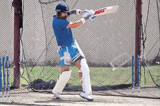 Indian Test captain Virat Kohli during a practice session in the West Indies. Photo: Jewel Samad/AFP