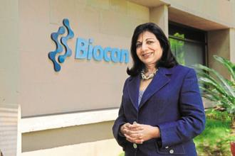 Kiran Mazumdar Shaw, chairperson and MD of Biocon said that people and entities filing patents in other countries are also filing them in India. Photo: Hemant Mishra/Mint