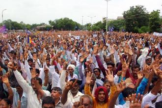 A Dalit protest in Ahmedabad last month.