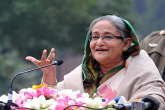 Prime Minister Sheikh Hasina publicly criticised the coverage of the attack and told private broadcasters to be more responsible. Photo: AFP
