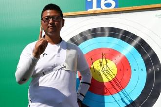 Kim Woo-jin's total of 700 points during the ranking round at the Sambodromo venue eclipsed the previous record of 699 set by compatriot Im Dong-hyun, which was set in the London Olympics' preliminary four years ago. Photo: Yves Herman/Reuters