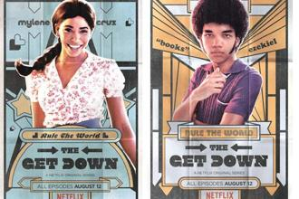 Herizen Guardiola (left) and Justice Smith conjure up crazy chemistry in 'The Get Down'—the sort of mad young love Baz Luhrmann does so perfectly.