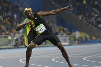 "Victory took Bolt a step closer to his goal of winning a historic ""triple-triple"" combination of gold in the 100m, 200m and the 4x100m relay in three consecutive Olympics. Photo: AP"