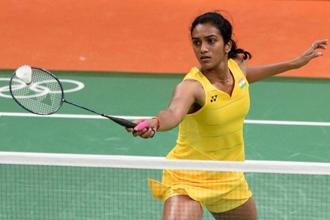With the memorable win, Sindhu became the second Indian badminton player to reach an Olympic semi-final after Saina Nehwal achieved the feat four years ago. Photo: PTI