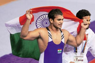 Narsingh Yadav had tested positive for methandionene, a banned substance, after NADA conducted tests at SAI's centre for wrestlers in Sonepat, Haryana, on 23 July.   Photo: Getty Images