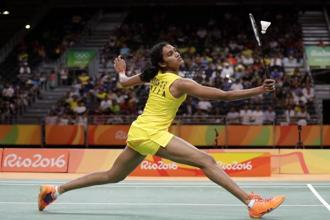 At 1cm shy of 6 feet, silver medallist PV Sindhu was the tallest player in the women's individual badminton event at the Rio Olympics. Photo: AP