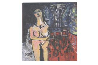 F.N. Souza, 'Man and Woman', est. $300,000-400,000