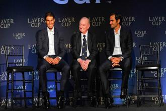 The Laver Cup was launched in New York on Wednesday with Federer and Nadal, who have won 31 Grand Slam titles between them, both committed to the event which will be held for the first time in Prague from 22-24 September next year. Photo: AFP