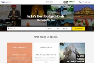 A screen grab of FabHotels website