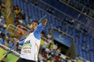 Devendra Jhajharia won gold in the F46-category for javelin in Rio de Janeiro, Brazil. Photo: AP