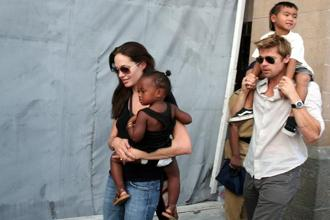 Angelina Jolie and Brad Pitt have six children together: Maddox, Pax, Zahara, Shiloh, and twins Knox and Vivienne. Photo: AP
