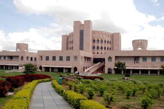 A file photo of the main academic building at Indian School of Business. Photo: Mint