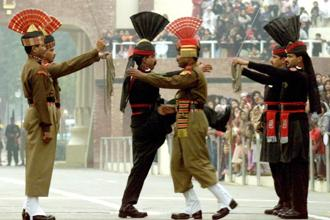 Even the public viewing of the Beating the Retreat ceremonies at two Punjab border posts—Hussainwala and Wagah—have been called off till further orders. Photo: Reuters