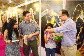 A rare meeting of some TSBC members at the Delhi Book Fair in August. Photo: Ramesh Pathania/Mint