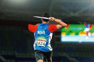 Rinku at the javelin finals at Rio Paralympics. Photo: Ricardo Moraes/Reuters