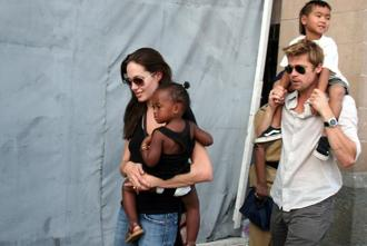 File photo. Angelina Jolie, filed for divorce from Brad Pitt, last month, putting an end to their two-year-old marriage. Photo: AP