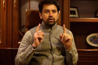 BCCI chief Anurag Thakur. Photo: Pradeep Gaur/Mint
