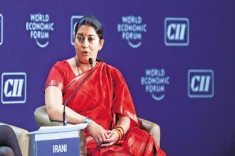 Textiles minister Smriti Irani. File photo: Mint