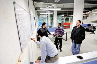 The demand for office space rose 14% on year-over-year basis. Photo: Priyanka Parashar/Mint