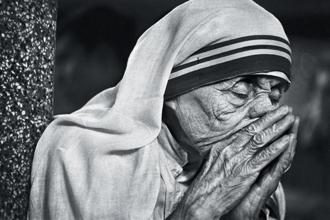Portrait of Saint Teresa, from Raghu Rai's book 'People'.