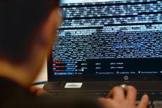 "Poorly secured devices may have been compromised and turned into a ""botnet"" that powered the attack. Photo:AFP"