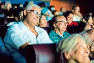 Film-viewers at a theatre in Mumbai. Photo: Aniruddha Chowdhury/Mint