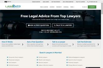 Lawrato claims it has 2,200 lawyer profiles across 200 cities in India.