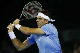 Juan Martin del Potro during the Davis Cup semi-final in September. Photo: Reuters