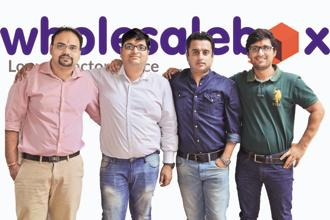 Wholesalebox was founded in 2015 by IIT Roorkee alumnus Rohit Dangayach (2nd from left).