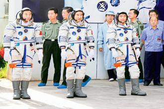 A file photo of Chinese astronauts. Photo: Xu Haihan/VCG via Getty Images