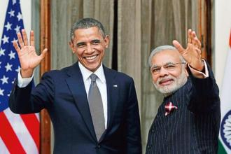 A file photo of US president Barack Obama (L) and Indian Prime Minister Narendra Modi. Photo: Reuters