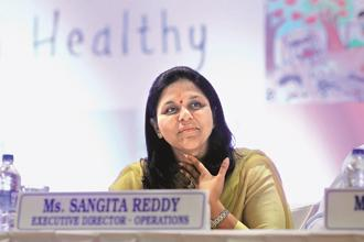 Sangita Reddy, joint managing director of Apollo Hospitals, the holding firm of Apollo Health and Lifestyle. Photo: SaiSen/Mint