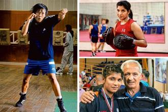 (Clockwise from left) boxers Sarjubala Devi; Simranjit Kaur; and Nikhat Zareen (left) participated at the recently concluded Senior Women's National Boxing Championships.