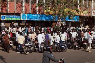 The demonetisation move has definitely corroded, if only marginally, confidence in the banking network. Photo: AP