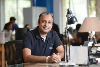 Sanjay Krishnan, co-founder of Lithium Urban Technology, India's first electric cab service headquartered in Bengaluru. Photo: Hemant Mishra/Mint