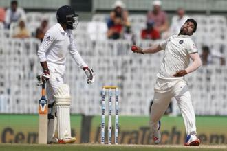 Umesh Yadav's effectiveness against England went beyond the number of wickets (8) he took in the series. Photo: Tsering Topgyal/AP