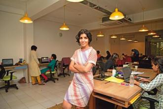 Chiki Sarkar, founder, of Juggernaut Books at her office in Shahpur Jat, New Delhi. Photograps: Ramesh Pathania/Mint