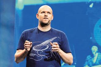 Daniel Ek needs to convince the market that Spotify won't wither under competition. Photo: Reuters