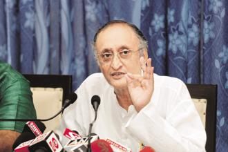 West Bengal finance minister Amit Mitra walked out  protesting against the note ban. Photo: Indranil Bhoumik/Mint