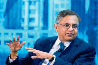 N Chandrasekaran's track record at TCS and the fact that Ratan Tata was very keen on a younger chief also played a role in his appointment as Tata Sons chairman. Photo: Bloomberg