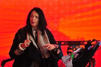 American poet Anne Waldman at the Jaipur Literature Festival 2017. Photo: Priyanka Parashar/Mint