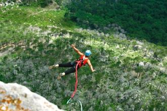 When you are trying a new adventure sport, the body responds to new stimuli in three ways: fight, flight or, when you are stuck on a rock-cliff, freeze. Photo: iStock