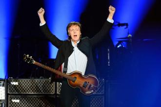A file photo of former Beatles member Paul McCartney . Photo: AFP