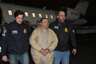 El Chapo was captured a year ago after he had fled a high-security penitentiary in central Mexico through a mile-long tunnel, his second dramatic prison escape. Photo: Reuters
