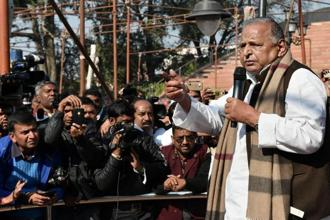 Samajwadi Party patriarch Mulayam Singh Yadav has said his son Akhilesh has his blessings and that all is well in the family now in the run up to the UP polls. Photo: PTI