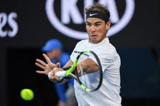 The Australian Open was a major test of Rafael Nadal's fitness after a wrist injury wrecked his 2016 season, and the signs were good. Photo: AFP